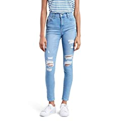 "High Rise: Sits above waist High stretch denim with a supper skinny leg and slim through hip and thigh Inseam: 28"" (Short); 30"" (Regular); 32"" (Long) Front Rise: 10 1/4""; Back Rise: 14""; Leg Opening: 9 1/4"""