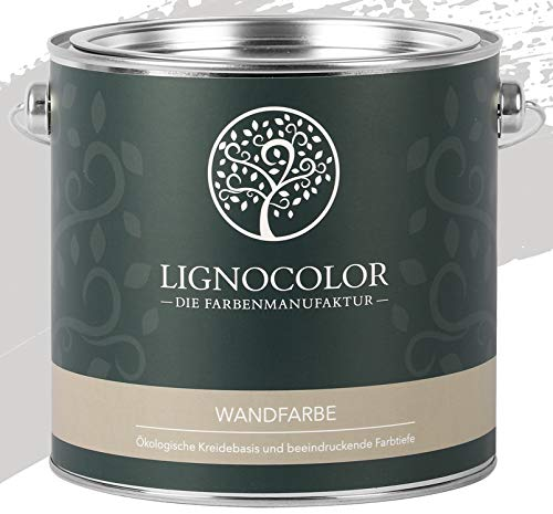 Lignocolor Wandfarbe Innenfarbe Deckenfarbe Kreidefarbe edelmatt 2,5 L (Whisper)