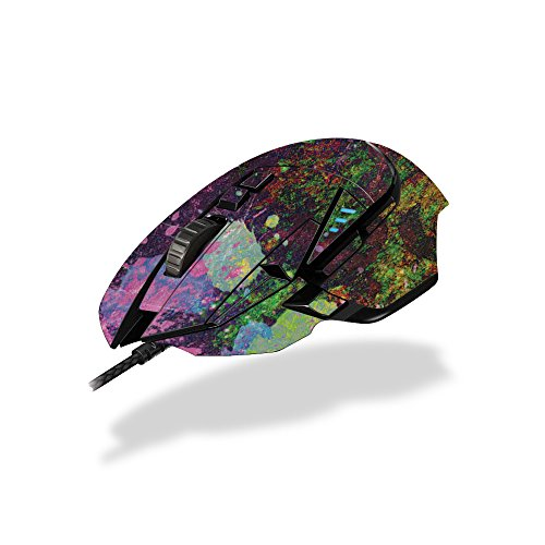 MightySkins Skin Compatible with Logitech G502 Proteus Spectrum Gaming Mouse - Paint Drip | Protective, Durable, and Unique Vinyl wrap Cover | Easy to Apply, Remove | Made in The USA