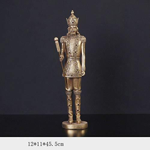 YL-adorn art beeld sculptuur figuur figuur figuur eenvoudig goud notenkraker sculptuur afbeelding hars figuur (til 1) kunst voor de woonkamer tafel accessoires kerst cadeau kantoor bar ornamenten