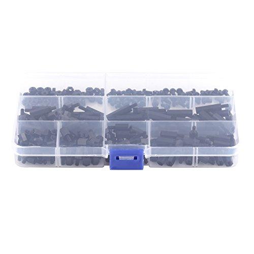 250 Stück/Set M3 männlich auf weiblich, Sechskant-Abstandshalter, Säulen, Schrauben, Muttern, Sortiment Kit mit Aufbewahrungsbox (M3)