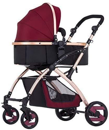 GPWDSN Reise Kinderwagen, Babywagen-Licht-Aluminiumlegierung Sit Hinlegen Faltbaren Rollstuhl Trolley Umweltschutz-Material (Farbe: F)