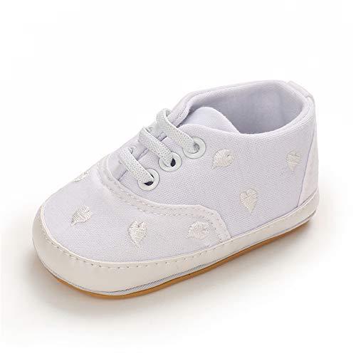 MASOCIO Zapatillas Bebe Niña Niño Zapatos Primeros Pasos Bebé Deportivas Talla 20 Blanco 12-18 Meses