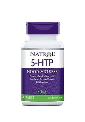 Natrol 5-HTP 50mg Capsules, 30-Count