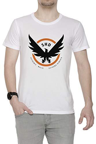 Erido The Division Homme T-Shirt Cou D'équipage Blanc Manches Courtes Taille XXL Men's White T-Shirt XX-Large Size XXL