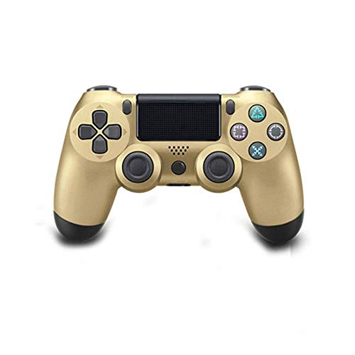 Gamepad PS4 regulador del Juego de Bluetooth de la vibración Gamepad for Play Station Joystick inalámbrico Opciones de Color Varios QPLNTCQ (Color : Golden, Size : 1)