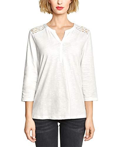 Street One Damen 313301 Langarmshirt, Off White, (Herstellergröße:42)