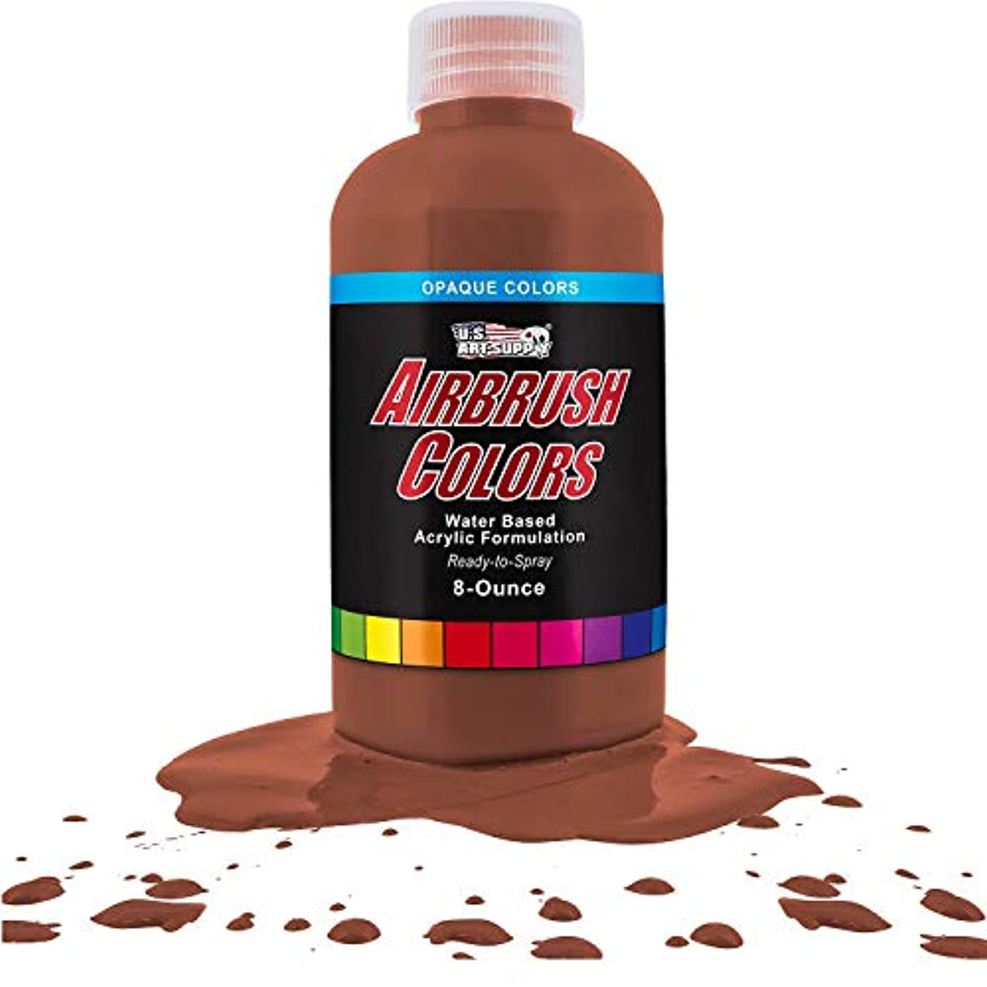 US Art Supply Coffee Brown Opaque Acrylic Airbrush Paint 8 oz.