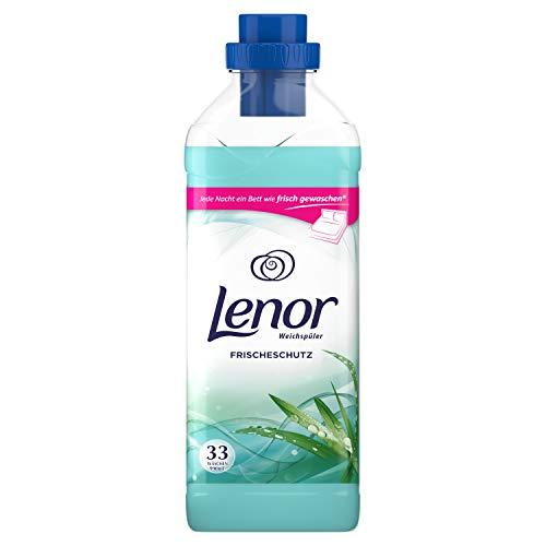 Lenor Weichspüler, Flauschige Wäsche, Frischeschutz Blumiger Duft mit Zitrusnote, 33 Waschladungen (990 ml)