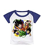 CTOOO 2018 Nuevo Verano Camiseta De Manga Corta Casual para Niños De Dragon Ball Print