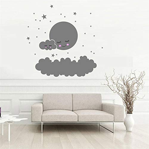 Olivialulu Big cloud smiley little star wandaufkleber kinderzimmer dekoration hause druckwand kunst cartoon diy aufkleber z0425# G20 @ gy_United_States