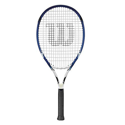 Raquetas De Tenis Alargada Individual para Hombres Y Mujeres Tenis Grande para Principiantes Método De Enhebrado 16 × 21 (Color : Photo Color, Size : 27.5inches)