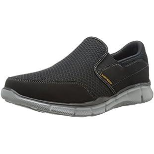 Customer reviews Skechers Equalizer Persistent Men Low-Top Sneakers, Black (Black/Grey), 9.5 UK (44 EU):Donald-trump