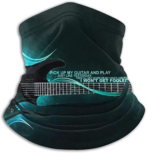 Cathycathy Nimm My Gitaar en games Unisex Outdoor Headwear Neck Warmer comfortabele Neck Gaiter Warmer Wintersjaal
