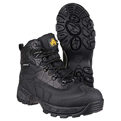 Amblers FS430 Orca S3 Waterproof Safety Work Boots Black 6-12 Lightweight (UK 10)