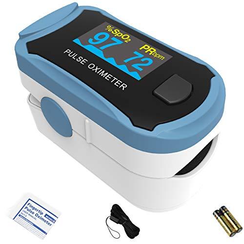 Oxímetro de pulso de dedo ChoiceMMed, MD300C29, oxímetro para medir la frecuencia cardíaca y la saturación de oxígeno (SpO2), dispositivo de monitoreo fisiológico simple, confiable y duradero