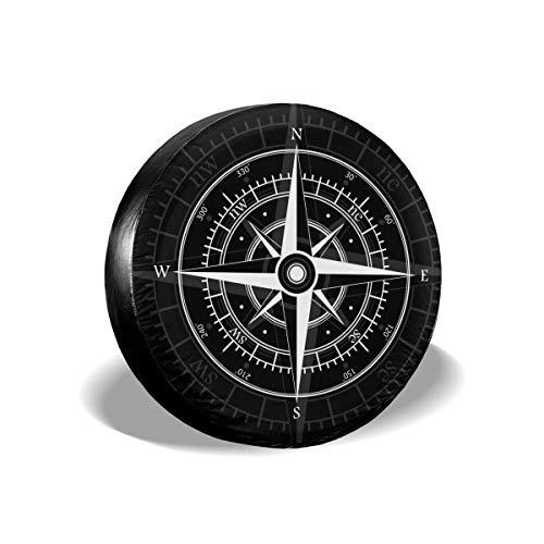 Cubierta de repuesto para neumáticos de brújula, impermeable, a prueba de polvo, universal, para llantas de repuesto, para Jeep, remolque, RV, SUV y muchos vehículos de 14 pulgadas