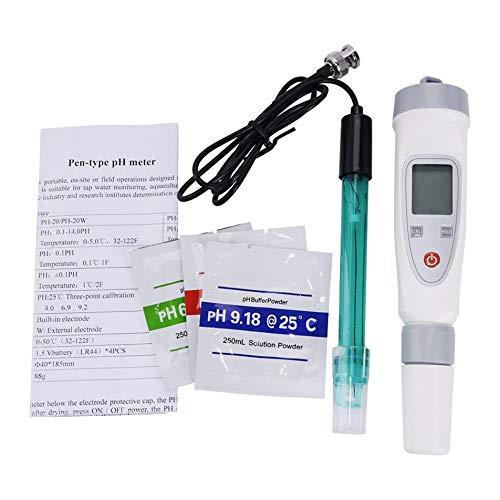 Silverdee Tragbare Digitale Wasserqualitätstester Stift PH Meter Wasserqualitätstest Stift PH-20W Externe Verbindung Elektrodentester