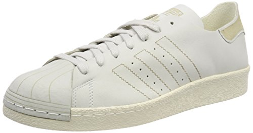 adidas Superstar 80S Decon, Scarpe da Fitness Uomo, Bianco (Ftwbla/Ftwbla/Marron 000), 44 2/3 EU