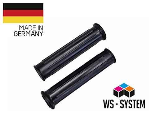 WS · SYSTEM 2 x Kinderfahrrad | Fahrrad Griff | Universal Fahrradgriffe | Vintage 15 mm Schwarz | Fahrradgriff | Lenkergriff | Griff | Lenker | Gummi | Roller | Klassisch | Retro Look |