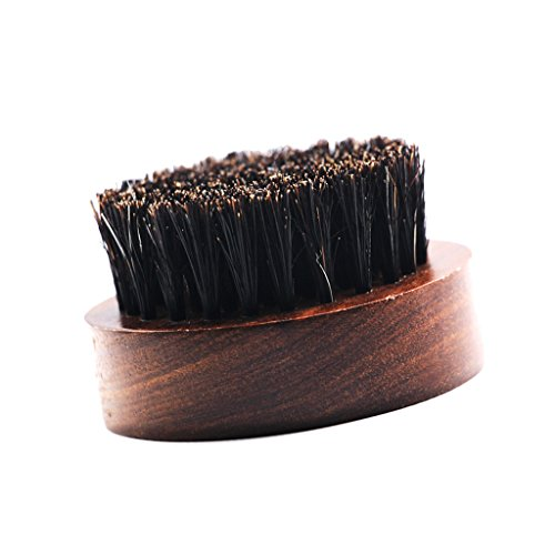 D DOLITY - Cepillo para barba, cepillo para bigotes, cerdas de jabalí, masaje de la piel de la barba para el cuidado de la barba