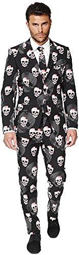 Opposuits OSUI-0035-EU46 - Skulleton - Halloween Kostüm, Sch l Anzug, Größe 46, Mehrfarbig