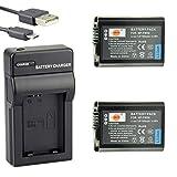 DSTE NP-FW50 Li-Ion Batería (2 Paquetes) Traje y Cargador Micro USB Compatiblepara Sony ZV-E10, A7, A3000, A6000, A6300, A6400, NEX-3, NEX-3N, NEX-5, NEX-5N, NEX-5R, NEX-5T, NEX-6, NEX-7