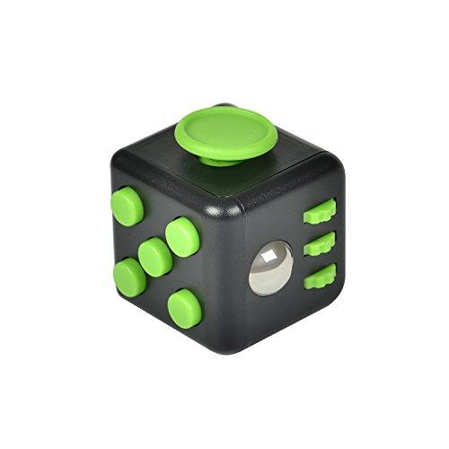 HelloGO フィジェットキューブ サイコロキューブ ストレス解消キューブ 6in1 リリーフ 手持ち無沙汰を解消する玩具 おもちゃ 気分転換 プレゼント(ブラック+グリーン)