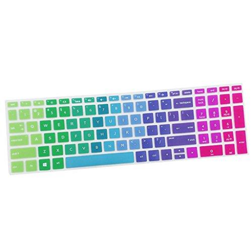 Sharplace Ultra Dünne Silikon Haut Keyboardschutz Tastatur Abdeckung Schutzfilm Folie für HP 15,6 Zoll BF Tastatur - Mehrfarbig