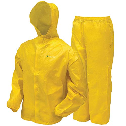 FROGG TOGGS Youth Ultra-Lite2 Waterproof Breathable Protective Rain Suit, Yellow, Medium