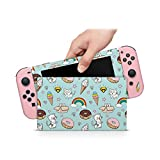 ZOOMHITSKINS Pastel Ice Cream Donut Rainbow Pink Cats Kitty Animals Kawaii High Quality 3M Vinyl Decal Sticker Wrap, Bubble-free Install, Goo-free Removal, Nintendo Switch Compatible, Made in the USA