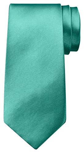 BomGuard BomGuard 8 cm türkis glänzend herren-krawatte damen seide männer frauen