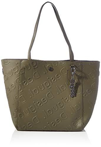 Desigual Accessories PU Shopping Bag, Bolsa de la compra para Mujer, verde, U