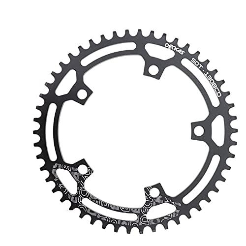 MENGGOO 130 BCD Ronda para for Shimano 5700 6700 50 52 55 58 58 TV de la Bicicleta de Carretera 130BCD para Fit for SRAM Red (Color : 52T Black)