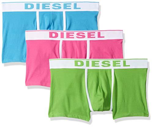 Diesel Herren UMBX-DAMIENTHREEPACK Boxer 3pack Slip, grün/pink, Small