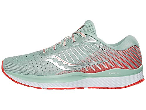 Saucony Women's Guide 13, Sky Grey/Coral, 9 B US