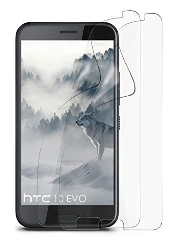 2X HTC 10 Evo | Schutzfolie Matt Bildschirm Schutz [Anti-Reflex] Screen Protector Fingerprint Handy-Folie Matte Bildschirmschutz-Folie für HTC One 10 Evo Bildschirmfolie