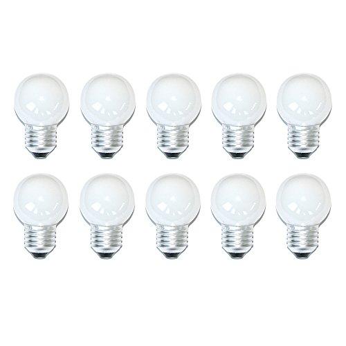 10 x mlight LED-lamp druppel P45 1W E27 opaal glazen kolf 32lm daglicht 6400K koudwit