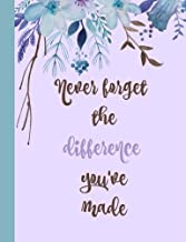 Never forget the difference you've made:: Retirement Gifts for Teachers,Army,Notebook,Nurses,Doctors,Women,Police officer,Social Workers,Journal,Flowers,Present (Happy Retirement) (Volume 5)