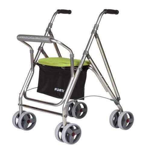 Rollator für Senioren | Aluminium Rollator mit Sitz | Rollator aus Aluminium klappbar | Farbe Pistazie