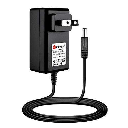 PKPOWER 12V AC DC Adapter Charger Fits for Seagate FreeAgent GoFlex Desk P/N: 9ZC2A8-501 9ZC2A8-500 9ZC2AG-501 9ZQ2A1-500 9NL6AR-500 9NL6AG-500 12VDC Power Supply Cord Cable PS Charger-Black