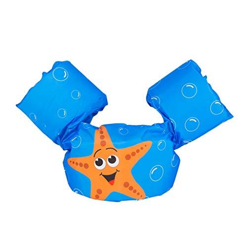 Ksnrang Schwimmflügel für Kinder und Kleinkinder von 2-6 Jahre, 15-30kg, Schwimmen Lernen Schwimmhilfe mit verschiedenen Designs für Jungen und Mädchen (Seestern, Einheitsgröße)