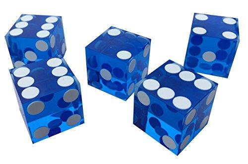 Misc Casino-Würel, Blau, 19mm, Präzisionsschliff, atemberaubend, 5 Stück - 2