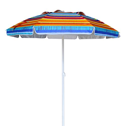 AMMSUN Outdoor Beach Umbrella with Carry Bag