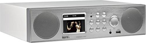 Imperial 22-246-00 Dabman i450 Internet-/DAB+ Radio (2.1 Sound,Bluetooth,Internet/DAB+/DAB/UKW,WLAN,LAN,USB,Aux In,Line-Out,inkl. Netzteil) silber/weiß