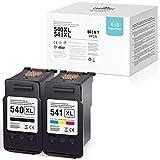 2 Superpage Kompatible für Canon 540XL 541XL PG-540XL CL-541XL Wiederaufbereitet patronen für Canon Pixma MG4250 MG3550 MG2250 MX395 MG4150 MG3150 MG2150 MG3250 MX525 MX455 MX515 MX435(Schwarz Farbe)