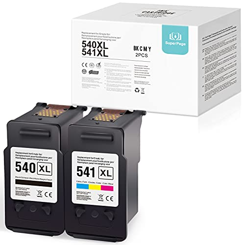 Superpage - Juego de 2 cartuchos de tinta remanufacturados para Canon Pixma MG4250, MG3550, MG2250, MX395, MG4150, MG3150, MG2150, MG3250, MX525 y MX455 515 MX. 435 (color negro).