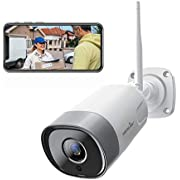 Outdoor Security Camera, Wansview 1080P Wireless WiFi Home Surveillance Waterproof Camera with Night Vision, Motion Detection, 2-Way Audio, Remote Access, Onvif and Works with Alexa -W5
