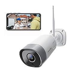 Wansview-beveiligingscamera Outdoor, WiFi IP Camera 1080P WiFi IP66 waterdichte beveiligingscamera met bewegingsdetectie, tweerichtingsaudio, micro-sd-kaartsleuf, ONVIF en werkt met Alexa W5*