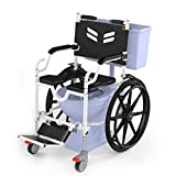 ARCATRON MOBILITY Reinventing Assisted Living Self Propelled Portable Shower and Commode Wheelchair Fold and Go in 60sec w/Frido Go (Black)